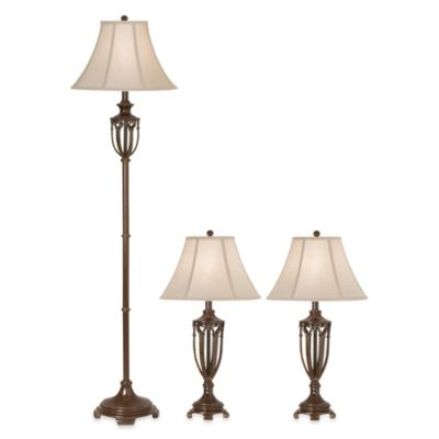 Kathy ireland home the estate collection 3 piece lamp set