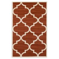 Unique Loom Austin 5' x 8' Trellis Area Rug in Rust Red