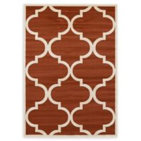 Unique Loom Austin 7' x 10' Trellis Area Rug in Rust Red