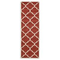 Unique Loom Austin 2'7 x 8' Trellis Runner in Rust Red