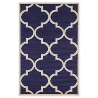 Unique Loom 6-Foot x 9-Foot Trellis Area Rug in Navy Blue