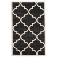Unique Loom Austin 3'3 x 5'3 Trellis Area Rug in Black