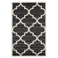 Unique Loom Austin 5' x 8' Trellis Area Rug in Black