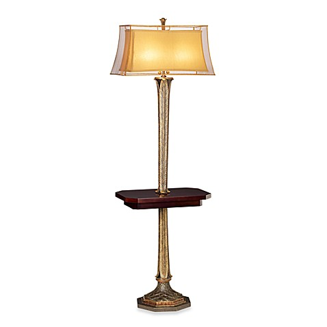 Kathy Ireland Home Palace Retreat 2-Light Floor Lamp with Tray