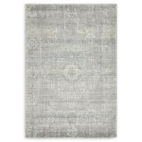 Unique Loom Bouquet Heritage 4' X 6' Powerloomed Area Rug in Silver