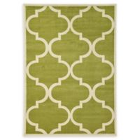 Unique Loom Austin Trellis 7' X 10' Powerloomed Area Rug in Green