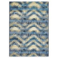 Unique Loom Aztec Eden Outdoor 5' X 8' Powerloomed Area Rug in Blue