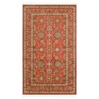 Unique Loom Larkspur Heritage 5' X 8' Powerloomed Area Rug in Red