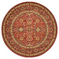 Unique Loom Larkspur Heritage 6' Round Powerloomed Area Rug in Red
