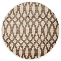 Unique Loom Himalaya Madison 5' Round Powerloomed Area Rug in Brown
