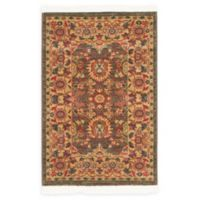 "Unique Loom Larkspur Heritage 2'2"" X 3' Powerloomed Area Rug in Light Brown"