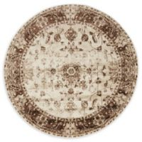 Unique Loom Himalaya Lincoln 5' Round Powerloomed Area Rug in Cream
