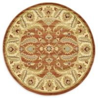Unique Loom Hickory Agra 6' Round Powerloomed Area Rug in Brick Red