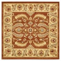 Unique Loom Hickory Agra 6' X 6' Powerloomed Area Rug in Brick Red