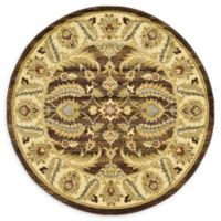 Unique Loom Hickory Agra 6' Round Powerloomed Area Rug in Brown