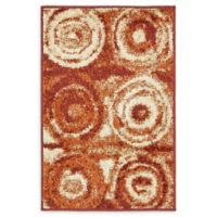 Unique Loom Harvest Wheat 2' X 3' Powerloomed Area Rug in Terracotta