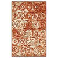 Unique Loom Harvest Wheat 5' X 8' Powerloomed Area Rug in Terracotta