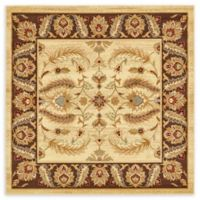 Unique Loom Hickory Agra 6' X 6' Powerloomed Area Rug in Cream