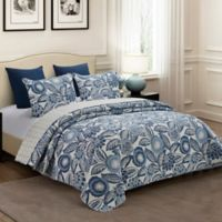Azuri Reversible King Quilt Set in Blue