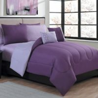 Avondale Manor Lattice Reversible 9-Piece King Comforter Set in Purple