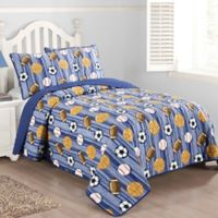 Junior Varsity 2-Piece Twin Quilt Set in Blue
