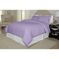 Pointehaven Printed 300-Thread-Count Full/Queen Duvet Cover Set in Lavender