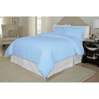 Pointehaven Printed 300-Thread-Count Full/Queen Duvet Cover Set in Blue