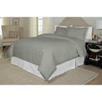 Pointehaven Printed 300-Thread-Count Twin/Twin XL Duvet Cover Set in Grey
