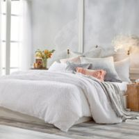 Peri Home Dot Fringe Twin Duvet Cover in White