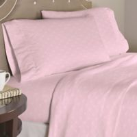 Pointehaven Bow 200-Thread-Count Percale Full Sheet Set in White