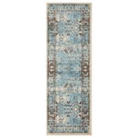 Unique Loom Istanbul Bosphorus 6' Runner in Blue/Brown