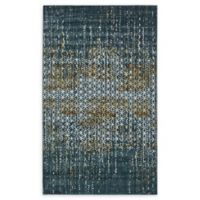 Unique Loom Honeycomb Mirage 5' X 8' Powerloomed Area Rug in Teal