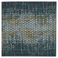 Unique Loom Honeycomb Mirage 6' X 6' Powerloomed Area Rug in Teal