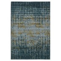 Unique Loom Honeycomb Mirage 7' X 10' Powerloomed Area Rug in Teal