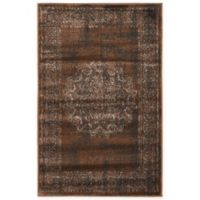 Unique Loom Istanbul Cypress 2' x 3' Accent Rug in Chocolate Brown