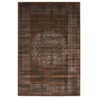 Unique Loom Istanbul Cypress 4' x 6' Area Rug in Chocolate Brown