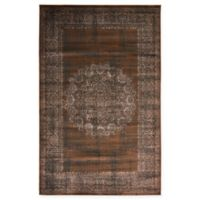 Unique Loom Istanbul Cypress 5' x 8' Area Rug in Chocolate Brown
