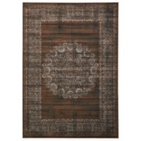 Unique Loom Istanbul Cypress 7' x 10' Area Rug in Chocolate Brown