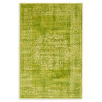 Unique Loom Istanbul Cypress 2' X 3' Powerloomed Area Rug in Light Green