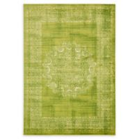 Unique Loom Istanbul Cypress 7' X 10' Powerloomed Area Rug in Light Green