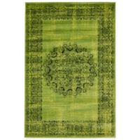 Unique Loom Istanbul Cypress 4' X 6' Area Rug in Sage Green