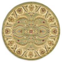 Unique Loom Hickory Agra 6' Round Powerloomed Area Rug in Green