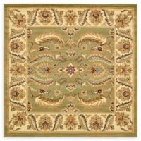 Unique Loom Hickory Agra 6' X 6' Powerloomed Area Rug in Green