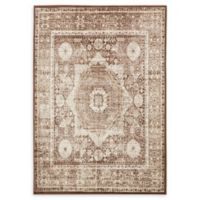 Unique Loom Istanbul Lygos 7' X 10' Powerloomed Area Rug in Chocolate Brown