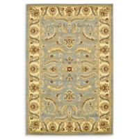 Unique Loom Hickory Agra 4' X 6' Powerloomed Area Rug in Light Blue