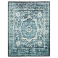 Unique Loom Istanbul Lygos 7' X 10' Powerloomed Area Rug in Blue