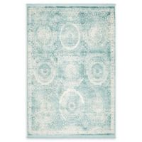 Unique Loom Iris Arcadia 4' X 6' Powerloomed Area Rug in Blue