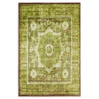 Unique Loom Istanbul Lygos 4' X 6' Powerloomed Area Rug in Light Green