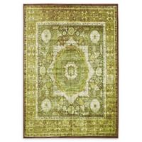 Unique Loom Istanbul Lygos 7' X 10' Powerloomed Area Rug in Light Green