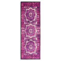 Unique Loom Istanbul Lygos 6' Runner Powerloomed in Lilac